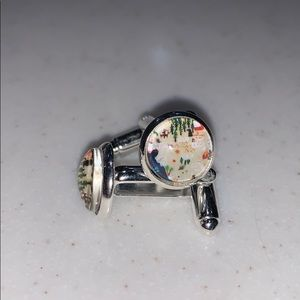National Parks Silver Cuff Links - NEW